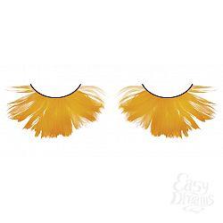 Пушистые оранжевые ресницы-перья