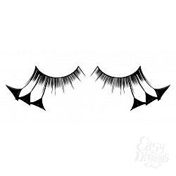 Чёрные ресницы-перья