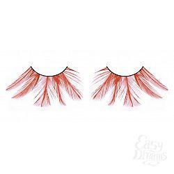 Красные ресницы-перья