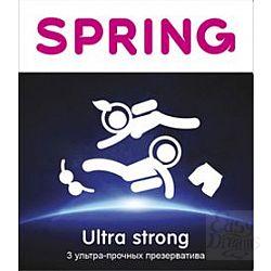 Ультра Прочные презервативы SPRING ULTRA STRONG - 3 шт.
