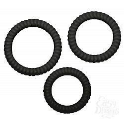 Набор из трех черных эрекционных колец