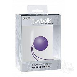 Фиолетовый вагинальный шарик Joyballs с петелькой
