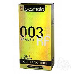 ФармЛайн Презервативы Okamoto 003 Real Fit № 10