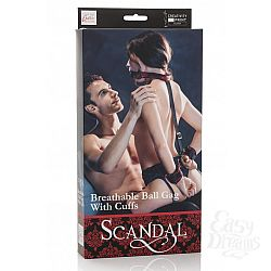 California Exotic Novelties Кляп с  наручниками  SCANDAL BRTHBLE BLL GAG w/CFFS