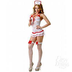 LE FRIVOLE Кружевной костюм соблазнительной медсестры (Le Frivole) , S/M