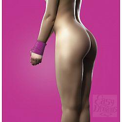 Розовая силиконовая лента для бандажа - 5 м.