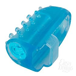 Голубая насадка на палец с вибрацией
