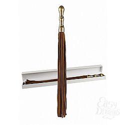 Shotsmedia Плетка Luxury премиум-класса, Коричневый