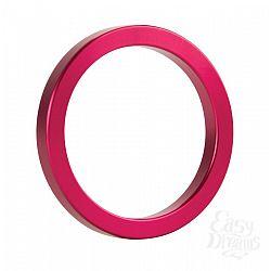 Розовое металлическое эрекционное кольцо Metal Cockring
