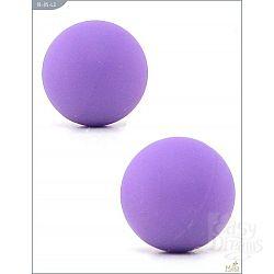 Металлические вагинальные шарики с фиолетовым силиконовым покрытием