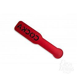 Красная шлёпалка с надписью  Соска  - 31 см.