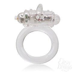 Прозрачное эрекционное кольцо с вибрацией One Touch Flicker