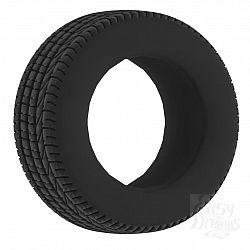 Чёрное эрекционное кольцо No.44 Cockring