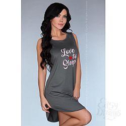 Серая ночная сорочка Dehena с принтом