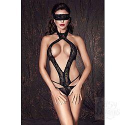 Кружевное боди Alexandra в комплекте с маской на глаза