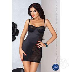 Сорочка Carolyn с полупрозрачной вставкой из кружева и шнуровкой на спинке