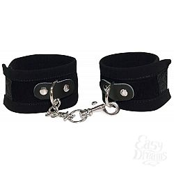 Чёрные замшевые наручники Bad Kitty Fesseln