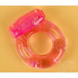 Розовое эрекционное кольцо с вибратором (ToyFa 818034-3)