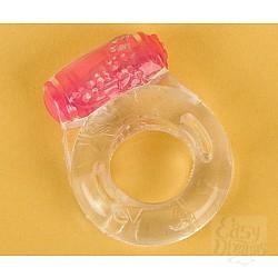 Прозрачное эрекционное кольцо с вибратором (ToyFa 818034-1)