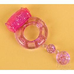 Фиолетовое эрекционное кольцо с вибратором (ToyFa 818039-4)