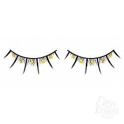 Baci Lingerie Ресницы чёрные с жёлтыми стразами