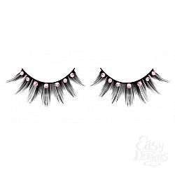 Baci Lingerie Ресницы чёрные с розовыми  стразами