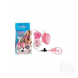 California Exotic Novelties Стимулятор клитора с помпой Butterfly Clitoral Pump с вибрацией розовый