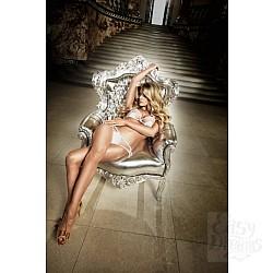 Back in Heaven Комплект бикини белый  из тюлевой ткани в точечку и матовыми аппликациями