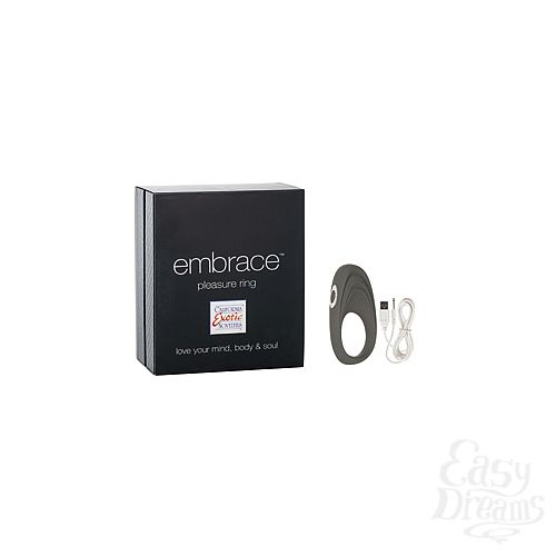 Фотография 1: Embrace_California Exotic Novelties Перезаряжаемое эрекционное кольцо с вибро-стимулятором Embrace Pleasure Ring серое