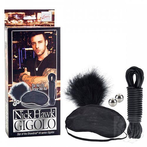 Фотография 1: California Exotic Novelties, Америка Набор Nick Hawk GIGOLO Tie Me Up & Tease Me Kit 2957-25BXSE