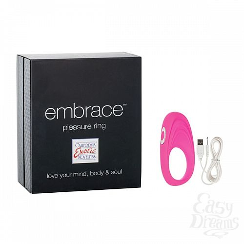 Фотография 1: California Exotic Novelties, Америка Виброкольцо Embrace pleasure rings розовое 4616-05BXSE