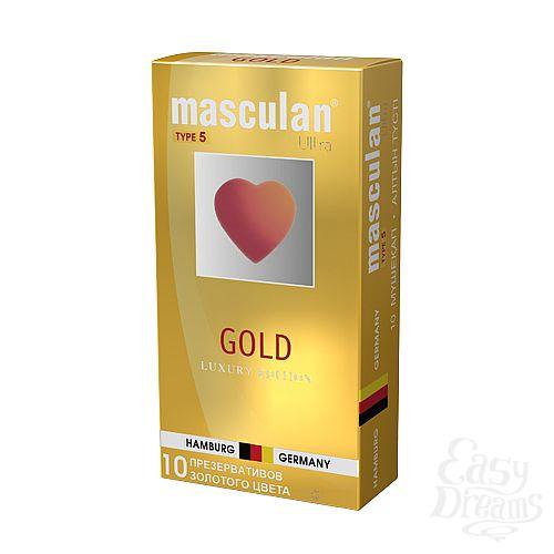 Фотография 1: Masculan Masculan Ultra 5,  10 шт. *10 Ультра Золотой (Gold)