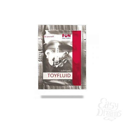 Фотография 1:  Лубрикант на водной основе Toyfluid - 3 мл.
