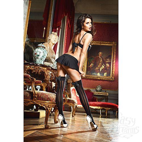 Фотография 3 Baci Lingerie Dreams Чулки Laundry French Maid высокие черные (42-46)