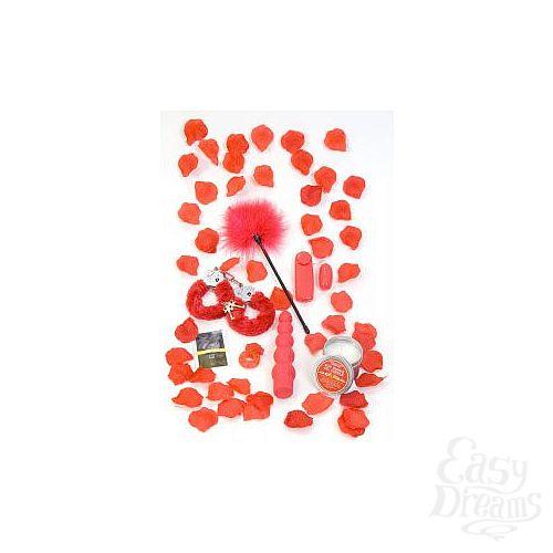 Фотография 1:  Подарочный набор секс-игрушек и аксессуаров RED ROMANCE GIFT SET