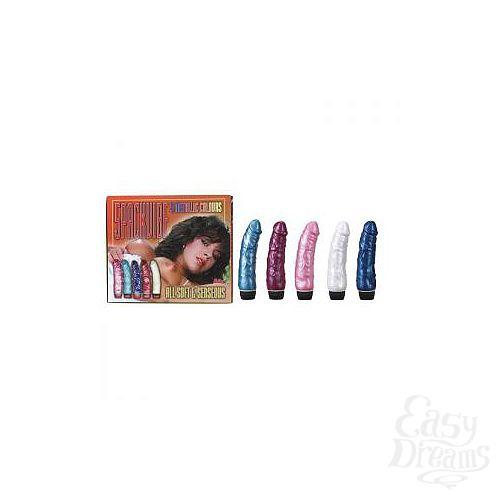 Фотография 1:  Набор из 5 разноцветных вибраторов Metallic Color