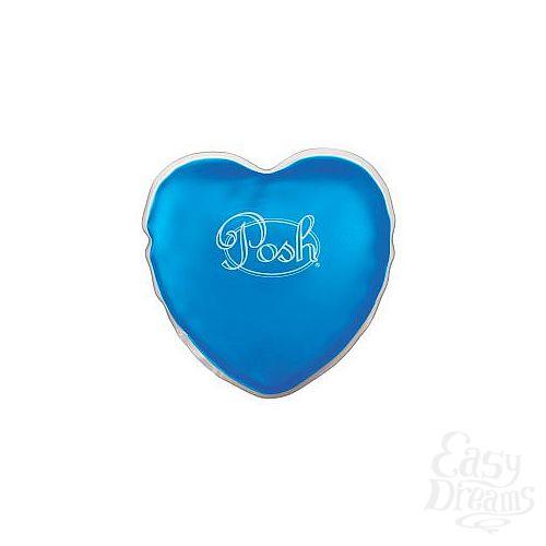 Фотография 1:  Теплый массажер голубого цвета Posh Warm Heart Massagers