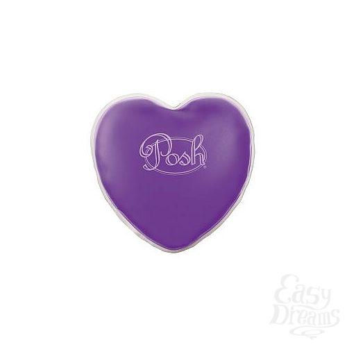 Фотография 1:  Теплый массажер фиолетового цвета Posh Warm Heart