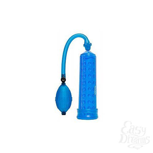 Фотография 1:  Синяя вакуумная помпа POWER MASSAGE PUMP