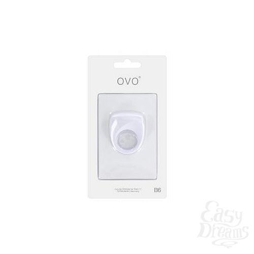 Фотография 2  Белое эрекционное кольцо B6 с вибрацией