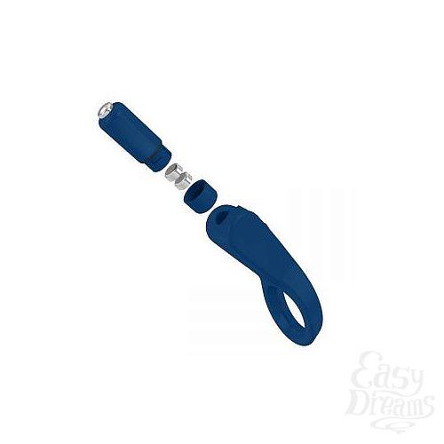 Фотография 4  Синее эрекционное кольцо B4 с клиторальным лепестком