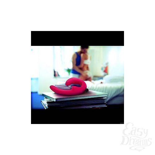 Фотография 6  Розовый страпон с вибрацией Sharevibe - 22 см.