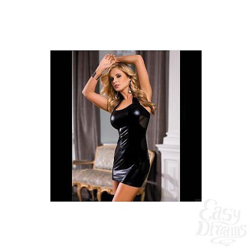 Фотография 1:  Облегающее платье с прозрачными вставками на спинке