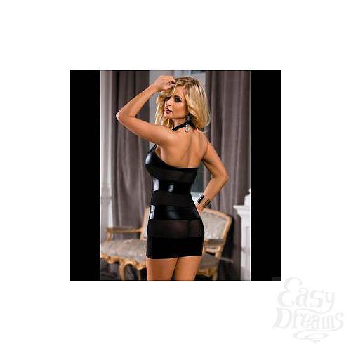 Фотография 2  Облегающее платье с прозрачными вставками на спинке