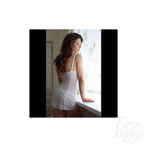 Фотография 4  Откровенный комплект  Лилит : сорочка с открытой грудью и трусики-стринг