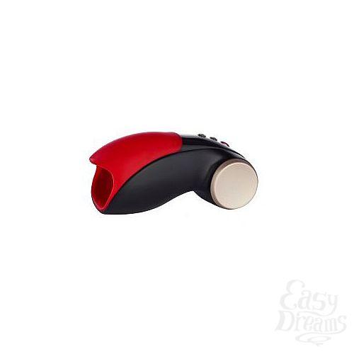 Фотография 1:  Чёрно-красный вибромастурбатор Cobra Libre 2