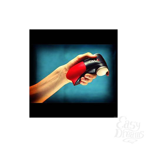 Фотография 3  Чёрно-красный вибромастурбатор Cobra Libre 2