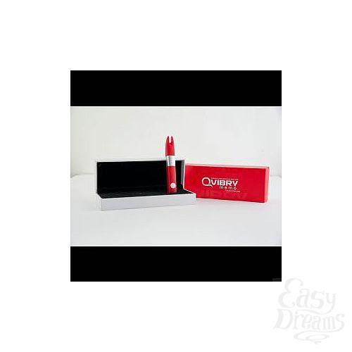 Фотография 2  Красный клиторальный вибратор с 4Gb USB памяти и 7 режимами вибрации