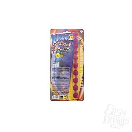 Фотография 2  Фиолетовая анальная цепочка - 31,8 см.