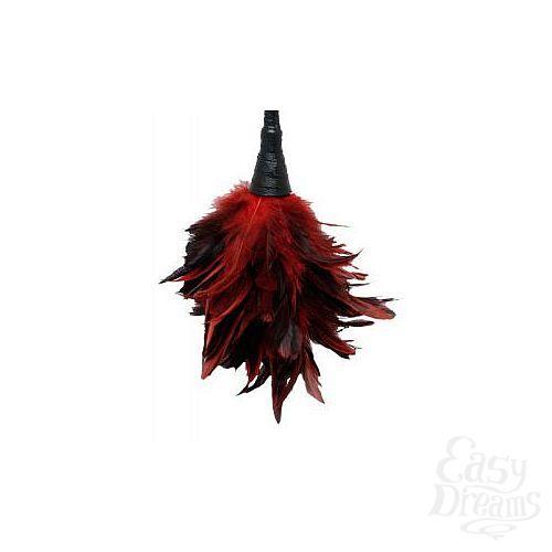 Фотография 3  Кисточка с красно-чёрными пёрышками FRISKY FEATHER DUSTER